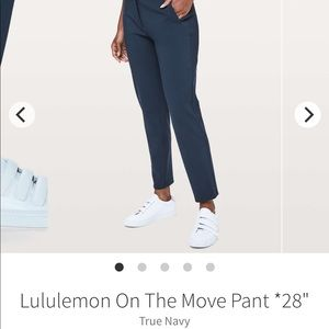 Lululemon On the Move pant- Navy